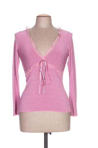 anna biagini t-shirts femme de couleur rose