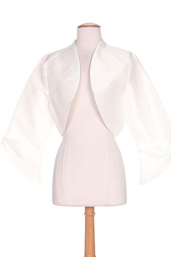 creatif paris vestes femme de couleur blanc