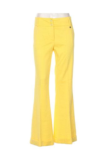 pois pantalons femme de couleur jaune