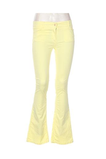 zimo pantalons femme de couleur jaune