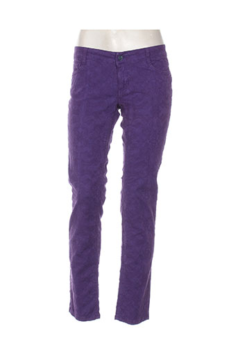 think chic pantalons femme de couleur violet