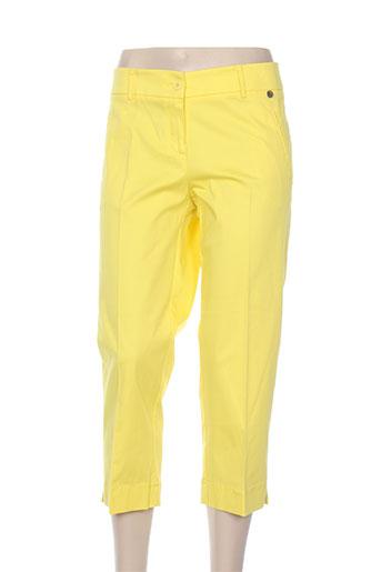 pois pantacourts femme de couleur jaune