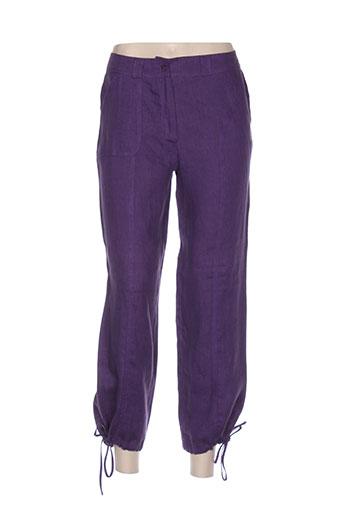 quattro pantacourts femme de couleur violet