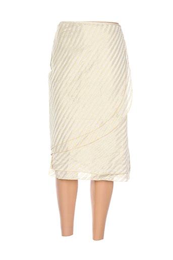 Jupe mi-longue beige ADOLFO DOMINGUEZ pour femme