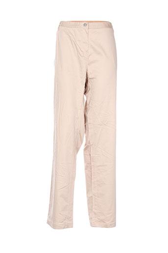 Pantalon casual beige ADOLFO DOMINGUEZ pour femme