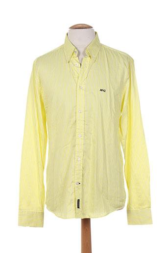 mc gregor chemises homme de couleur jaune