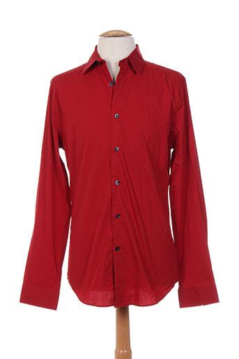 Chemise manches longues rouge EXPRESS pour homme