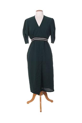 jane wood robes femme de couleur vert