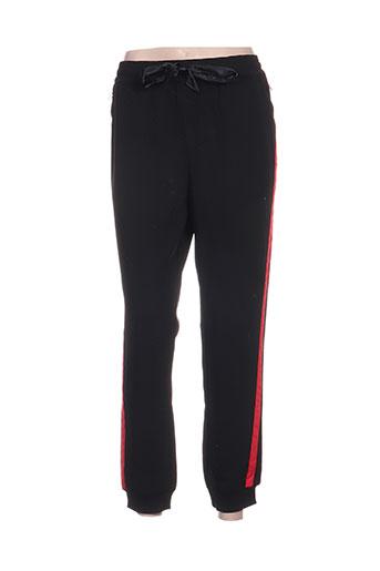 aaiko pantalons femme de couleur noir