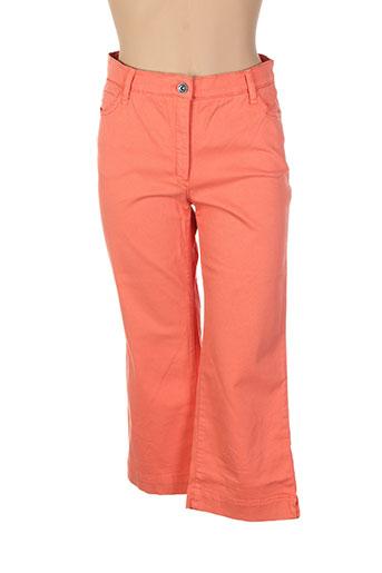 couturist pantacourts femme de couleur orange