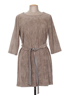 Robe mi-longue marron MOLLY BRACKEN pour femme