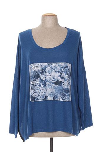 co2 t-shirts femme de couleur bleu