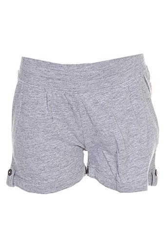 name it shorts / bermudas fille de couleur gris