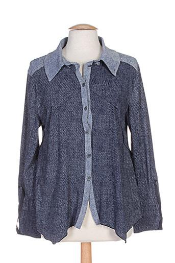 my square chemises femme de couleur bleu