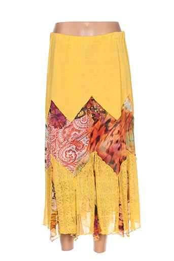 chassagnard jupes femme de couleur jaune