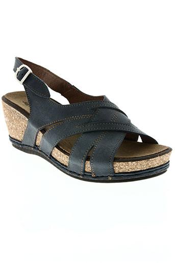 la plume chaussures femme de couleur bleu
