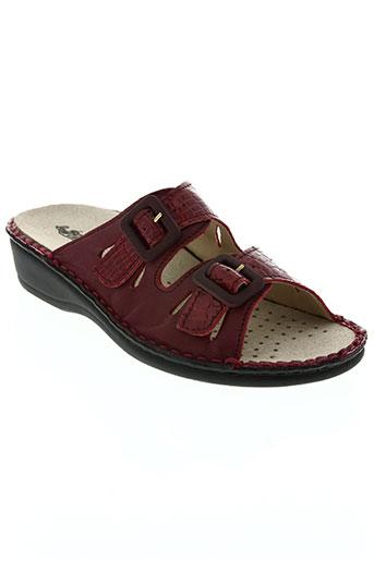 la plume chaussures femme de couleur rouge