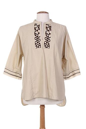 maxmara chemises femme de couleur beige