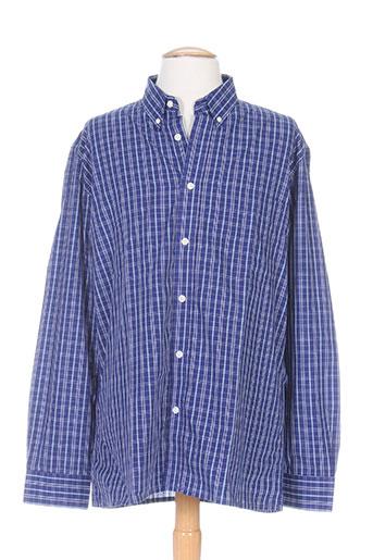lma chemises homme de couleur bleu