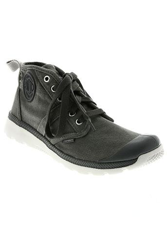 palladium chaussures homme de couleur gris