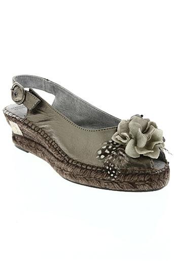 bruma chaussures femme de couleur gris