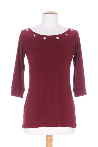 patrick mendes chemises femme de couleur rouge