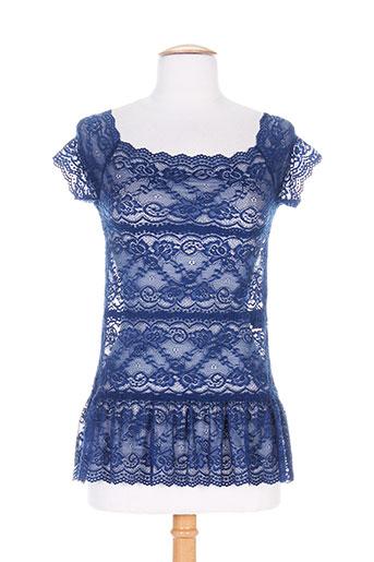 patrick mendes chemises femme de couleur bleu