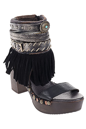 nemonic chaussures femme de couleur noir