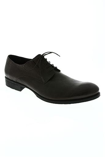 hexagona chaussures homme de couleur marron