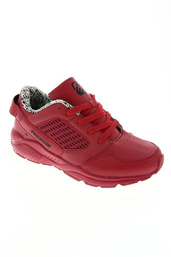freegun chaussures homme de couleur rouge