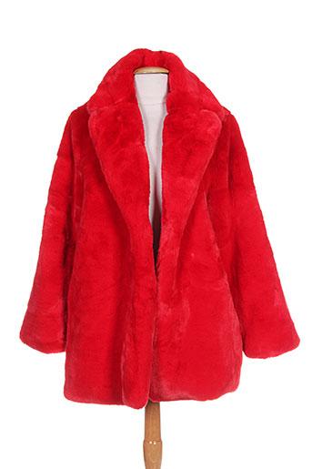 suncoo manteaux femme de couleur rouge