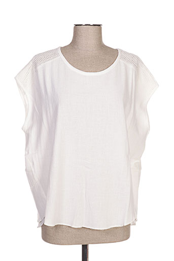 yaya chemises femme de couleur blanc