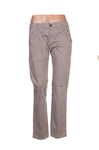 hod pantalons femme de couleur beige