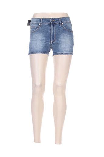 cheap monday shorts / bermudas femme de couleur bleu