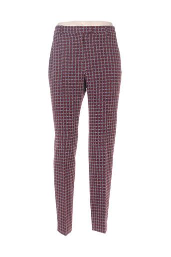 Pantalon 7/8 rouge NICE THINGS pour femme