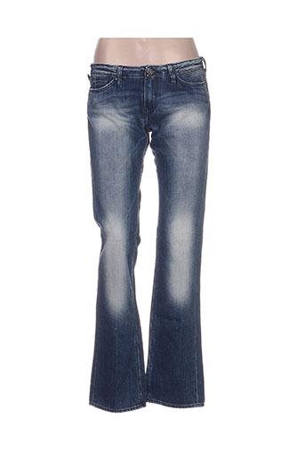 le temps des cerises jeans femme de couleur bleu