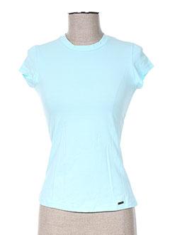 T-shirt manches courtes bleu ANNE TURTAUT pour femme