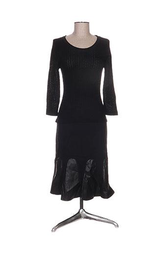 Robe mi-longue noir ANNE TURTAUT pour femme
