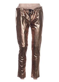 Pantalon casual beige ANNE TURTAUT pour femme