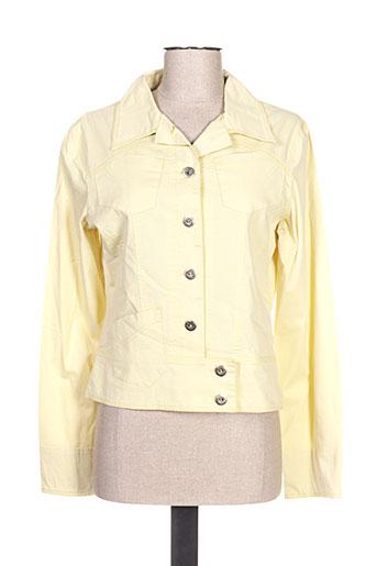 Veste casual jaune QUATTRO pour femme
