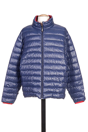 partner's manteaux homme de couleur bleu