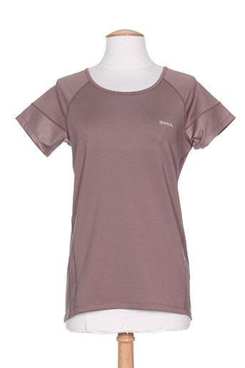 T-shirt manches courtes marron BENCH pour femme