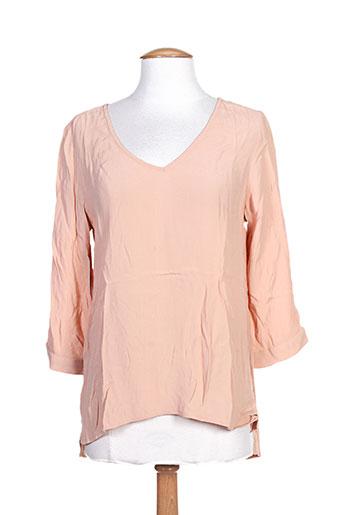 vila chemises femme de couleur orange