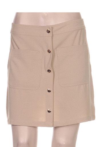Jupe courte beige VILA pour femme