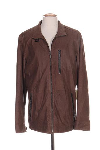 jacques looci vestes homme de couleur marron