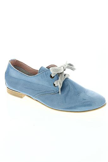 coco et abricot chaussures femme de couleur bleu