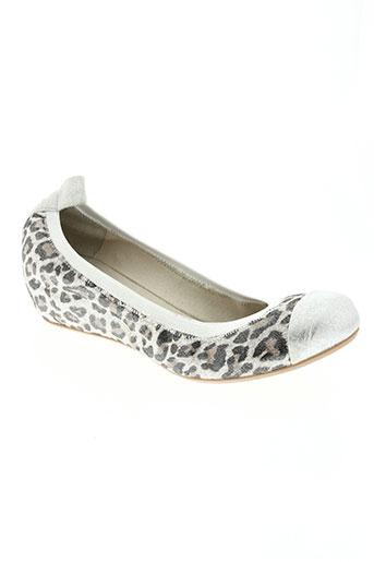 coco et abricot chaussures femme de couleur gris