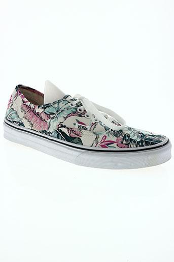 vans chaussures femme de couleur blanc