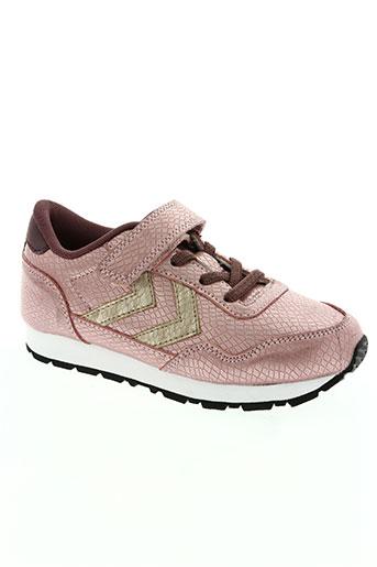 hummel chaussures fille de couleur rose