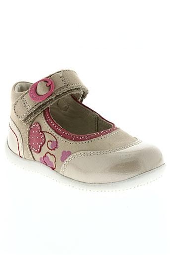 kickers chaussures fille de couleur beige